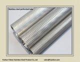 Pipe perforée d'acier inoxydable de silencieux d'échappement de Ss201 76*1.2 millimètre