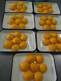 Les conserves de fruits ou de conserves de pêche jaune en moitiés