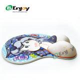 Melhor design ergonómico Funny Bonitinha Janpanese 3D Anime Boy tapete para rato com o punho restante