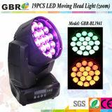 Gbr Nouvelle LED 19pcs 15W le déplacement de la tête de lavage de zoom de faisceau d'éclairage