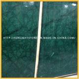 주거를 위한 Polished 인도 Verde 녹색 대리석 목욕탕 허영 상단