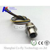 PCB печатает Pin держателя M12 6 задего панели женский передний голодаемый разъем на машинке RF
