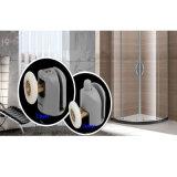 Solos grises surgen diversas tallas Avaivable de la ducha de las ruedas corrientes plásticas de la puerta