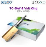 Le seul Roi Vape Herb Vaporizer de Seego Tc-50W+Vhit de modèle pour la vente en gros