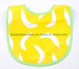 OEM de fábrica de producir algodón impreso el logotipo personalizado Terry Rosa Toalla de la Saliva del bebé