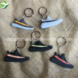 Keychain creativo/silicone calç as sapatilhas chaves Keychain de Ring/3D