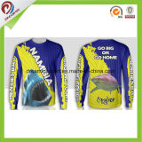 100% Polyester Sublimation tee-shirts de pêche