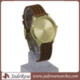 Relógio de quartzo de Hotselling, senhora Liga Relógio de pulso da forma, relógio do couro genuíno