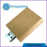 Clé de mémoire USB en bois de livre promotionnel pour le logo libre