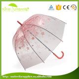 Ombrello trasparente della pioggia diritta all'ingrosso di 21inch Sun