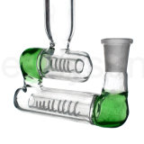 Skirt Diffused Inline Slitted Hookah Glass tuxedo Water Pipes (G19)