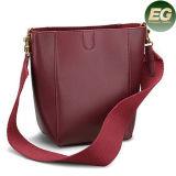 Saco de mão novo do lazer da mulher dos sacos de ombro das senhoras do couro genuíno da senhora Bolsa do projeto com preço de grosso Emg5240