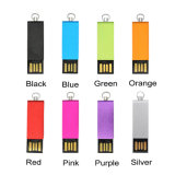Giratorio Colores personalizados Metal Mini USB Memory Stick grueso