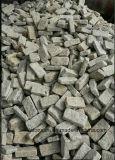 Galet bon marché de pierre de granit de jaune de dégringolade avec finissage flambé/dédoublé pour l'allée