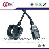 Kabel Wechselstrom-Netzkabel Ved Einfügung-elektronisches BRITISCHES Laptop3 Pin-C5