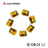 Bateria cilíndrica recarregável do polímero pequeno do lítio da bateria de 3.7V 85mAh Lipo