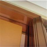 Quadro do Elevador da tampa de porta de aço inoxidável Traço fino acabamento prateado
