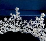 A coroa nupcial personalizada a mais nova de 2018 tiaras douradas de vidro de cristal do Rhinestone de Stonne do casamento da coroa da decoração da festa de Natal (BC05)