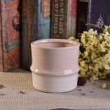 Sostenedor de vela de cerámica de la dimensión de una variable de bambú rosada