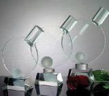 Trofeo de Tenis de mesa de cristal con logo personalizado para eventos