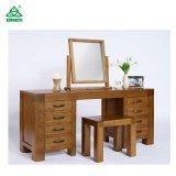 Mobilia di legno di stile antico per l'apprettatrice della camera da letto con lo specchio