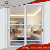 Perfil de alumínio personalizado que desliza a porta exterior interior com vidro Tempered