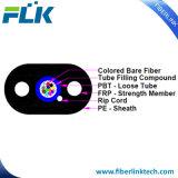 De Lucht Geïnstalleerdem Kabel van de Daling van de multi-Vezel van de Vezel van de zelf-Steun FTTH Optische Vlakke versterkte Ovale HDPE van het Jasje van Sm G657A1 van de Kabel Buiten, FRP, Rip-Cord