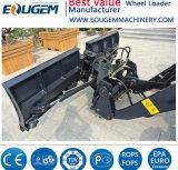 Eougem 1.2ton Rad-Ladevorrichtung mit 0.8 Kubikmeter-Wanne und Schnee-Schaufel