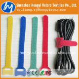 100% Alta calidad de nylon de colores Cinta velcro para el cable de amarre de/por cable