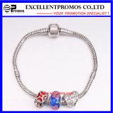 Pulsera moldeada plateada plata del encanto de la joyería DIY de la manera (EP-CB001)
