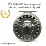 Nuevo Diseño Venta al por mayor peso de la luz alumbre Corte mecanizado CNC Fundido Classic Trout Fly Reel 02A-CNC-I-NT