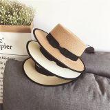 Mode vierge de l'été Cap chapeau de paille personnalisé avec Bow