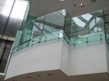 Design moderno com varanda temperado fosco sem caixilho corrimão de vidro/vidro balaustrada para Terraço