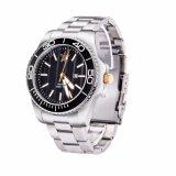 高品質のステンレス鋼の人のための物質的な日本動きの方法水晶腕時計
