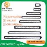 Offroad 크리 사람 10W 고강도 LED 표시등 막대 160W 큰 단 하나 줄 표시등 막대