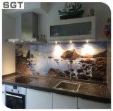 cuisine en verre Splashback d'impression de Digitals durcie par fer inférieur de décoration de 6mm