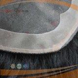 巻き毛の黒いブラジルの毛PUの上塗を施してある上の毛(PPG-l-01495)