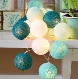 Декоративный шнур шарика освещает света шарика хлопка Fairy для крытого