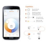 Bulbo CCT 2700-6000K ajustável do diodo emissor de luz de Dimmable pelo telecontrole ou pelo Smartphone