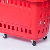 高品質の車輪が付いているスーパーマーケットの買物かご