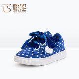Натянутый лук сердца МНОГОТОЧИЯ способа детей самый новый шнурует вверх ботинки тапок кашемира