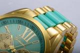 Reloj material de los ojos del movimiento tres de Japón del silicio de la caja de acero inoxidable