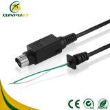 Cable de datos niquelado del Pin de la potencia del ordenador para la caja registradora