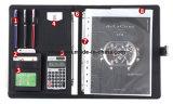 Dobrador de arquivo do original da carteira do contrato A4 com calculadora da pasta