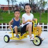3 Rad-Dreiradkind-Fahrrad mit Sitz zwei