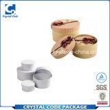 流行の円形のボール紙の白いギフト用の箱