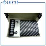 Exklusive Polyester-Jacquardwebstuhl-Taschen-Quadrat-Krawatten-Sets