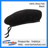 卸し売りウールのフェルトの軍隊の軍のベレー帽の帽子