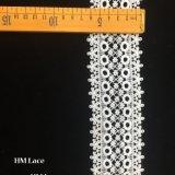 6.5cmの品質によって刺繍されるレースのTrimminngの白いChantillyによってスカラップで仕上げられるボーダーレースHmhb1094