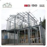 Konkretes Leuchte-Stahlkonstruktion-Ausgangsfertiglandhaus-Haus
